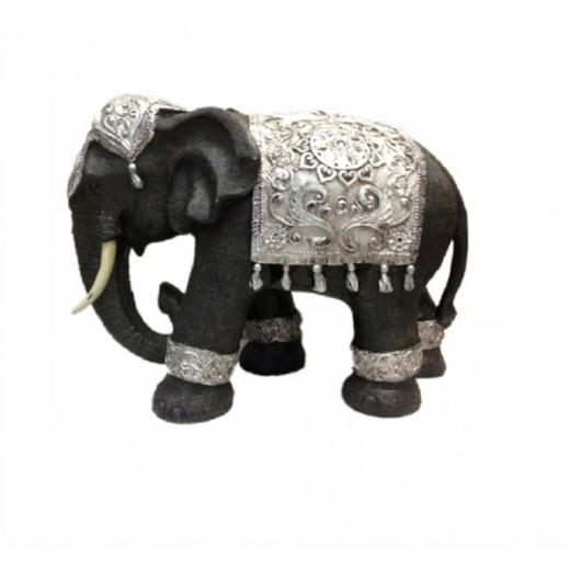 Elephant Statue 26cm Tall Decor Ornament Figurine Ebay
