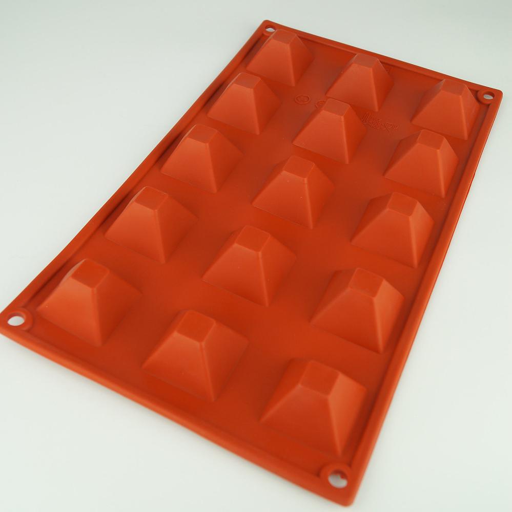 Mini Pyramid Silicone Chocolate Mold Flexible Baking Mould