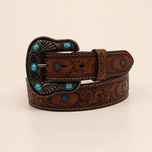 Nocona-Brown-Western-Embossed-Turquoise-Accent-Leather-Belt