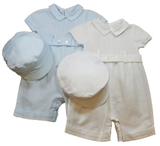 White Knit Romper Baby Boy - Long Sweater Jacket