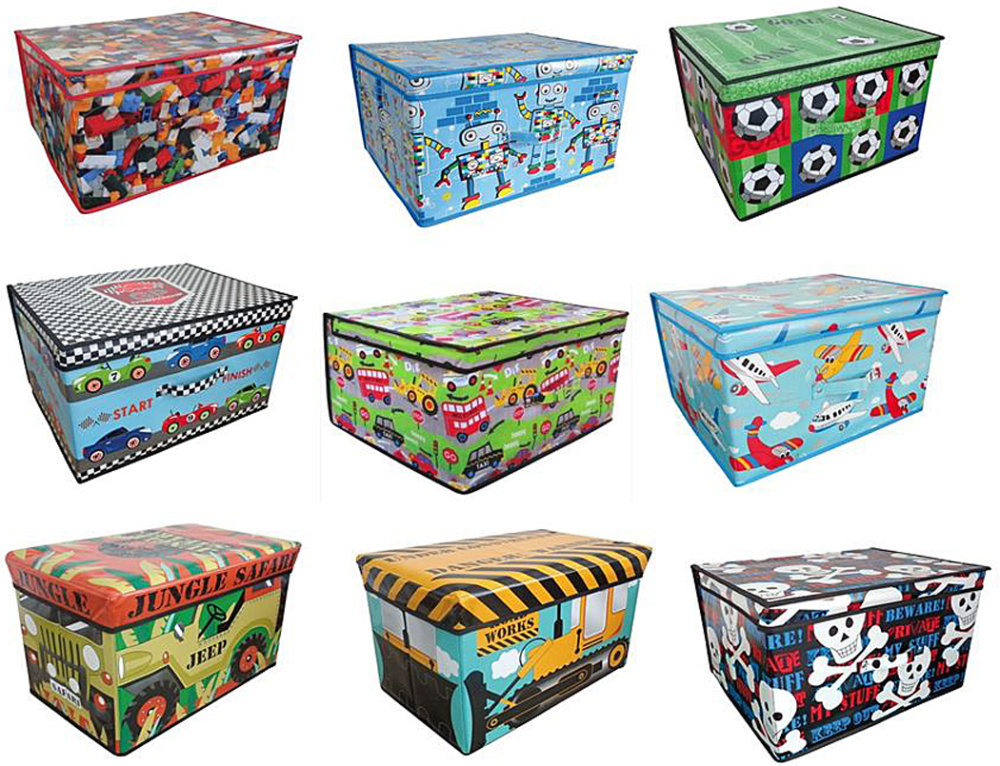 Storage-box-chest-kids-boys-childrens-toy-clothes-  sc 1 st  eBay & Storage box chest kids boys childrens toy clothes bedding tidy large ...
