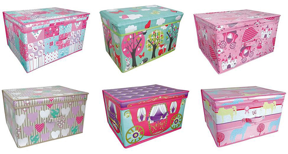 Princess Toys Box Storage Kids Girls Chest Bedroom Clothes: Storage Box Chest Trunk Kids Girls Toy Clothes Bedding Tidy