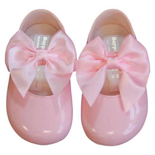 Baby Girl Black Pram Shoes