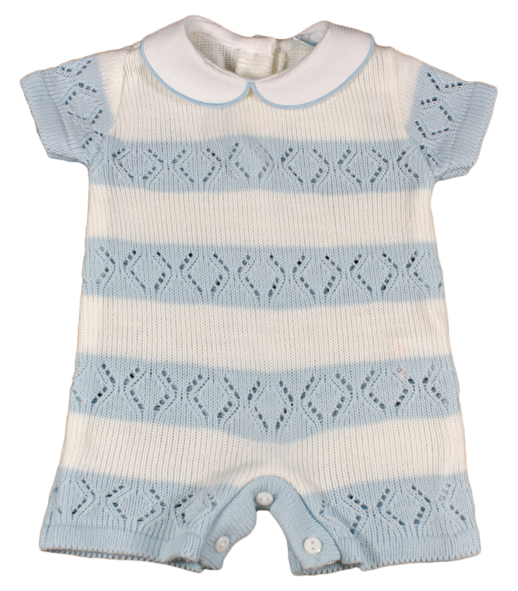 Baby Boy Knitted Romper Suit Outfit Spanish Style Ebay