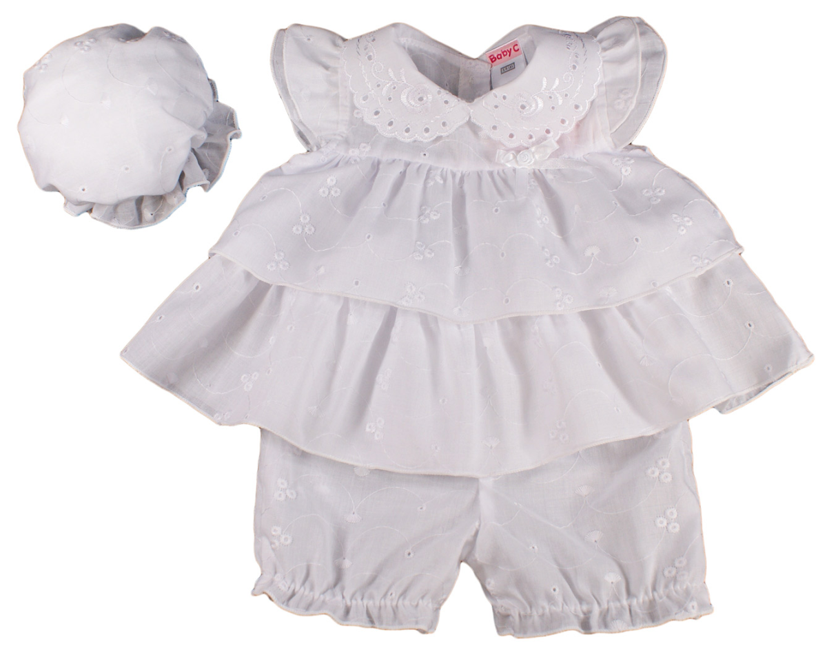 baby girl dress premature tiny prem small reborn broderie anglaise