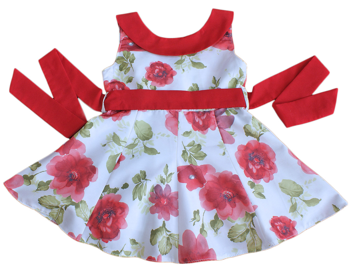 ae5c9bbd21bf Couche Tot baby girl dress floral designer summer RED