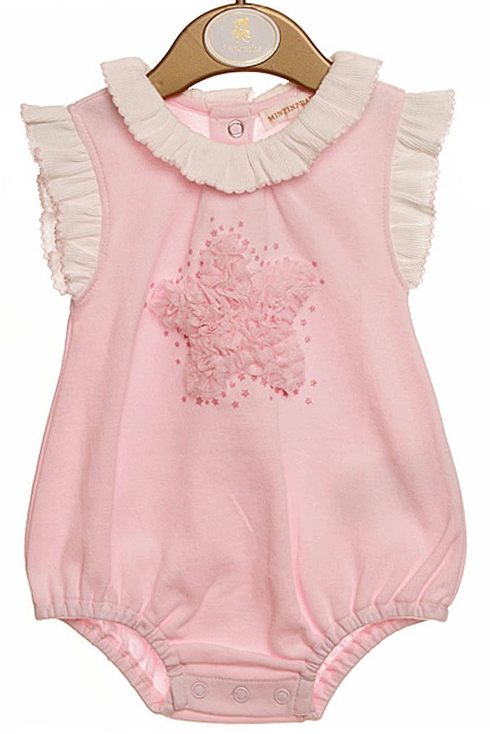 9b129d02b5d1 Mintini romper baby girl tutu ruffle star frilly Spanish style ...