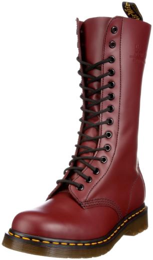 dr doc martens 1914 rouge cerise cuir classique bottes goodyear montage 11855600. Black Bedroom Furniture Sets. Home Design Ideas