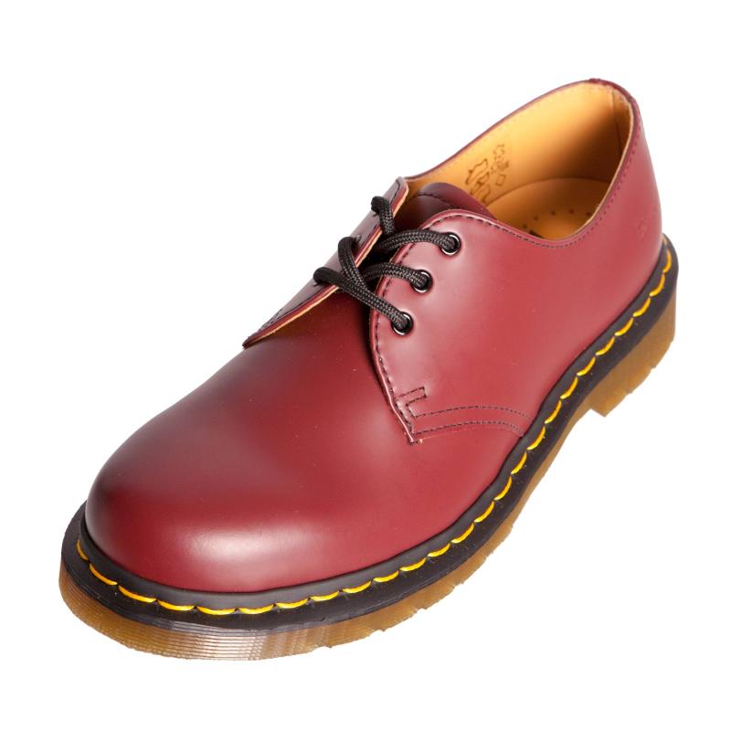 dr doc martens 11838600 1461 cherry red leather shoe ebay. Black Bedroom Furniture Sets. Home Design Ideas