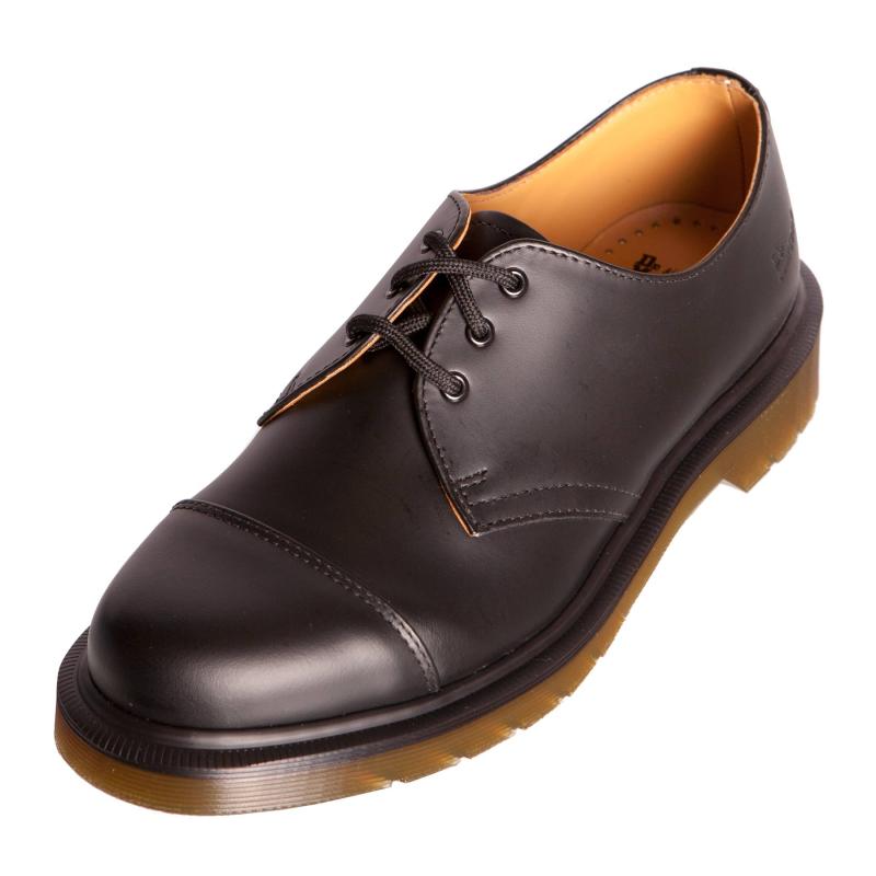 dr doc martens 1463 cap shoe black leather boot 14145001