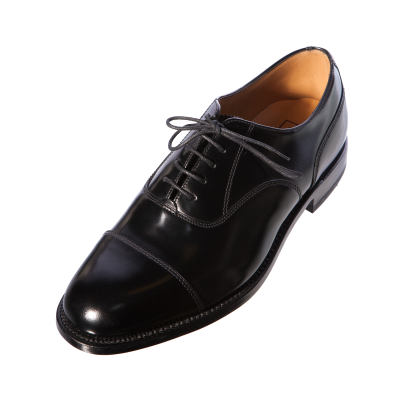 loake 200b mens gents oxford handcrafted black leather shoe