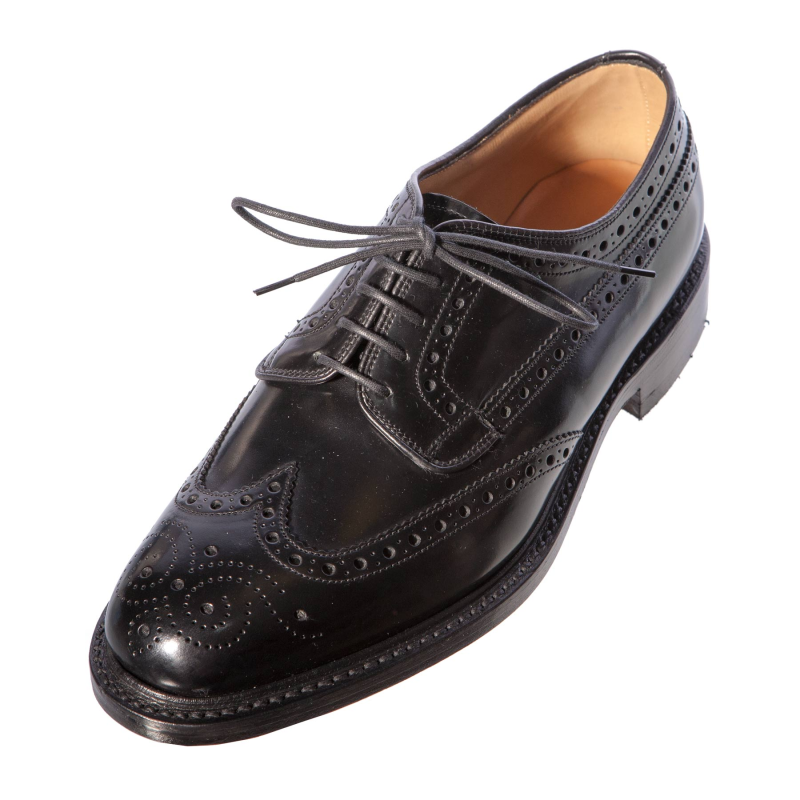 loake braemar gents mens black leather brogue shoe leather