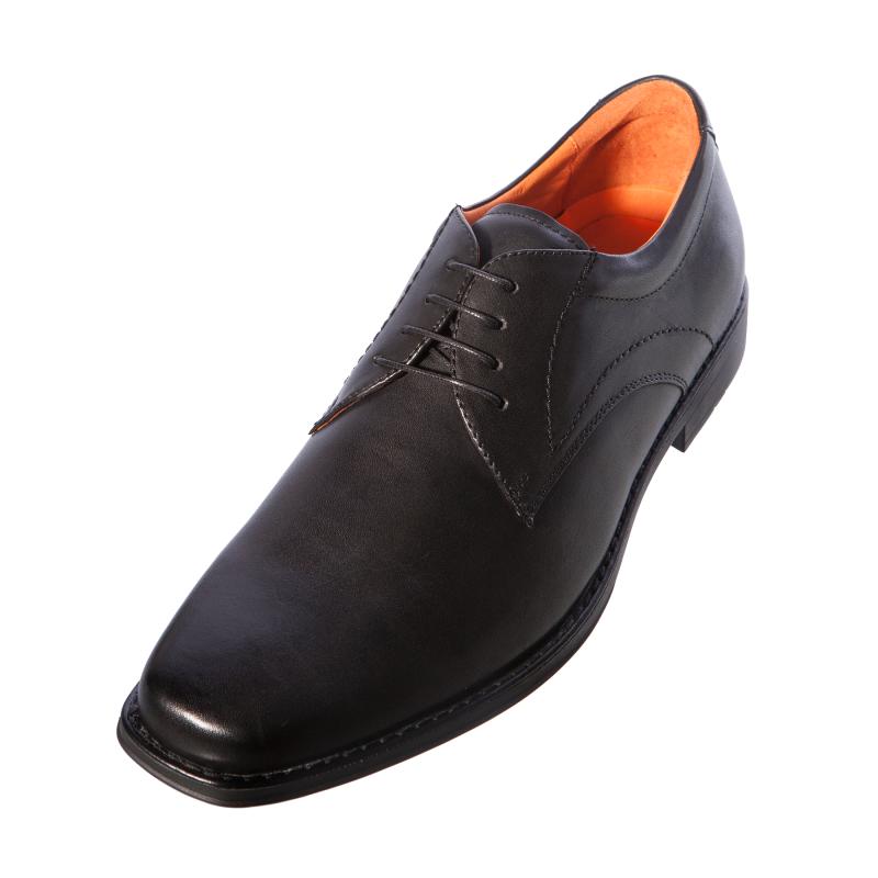 Azor Mens Gents Perth ZM3720 Black Leather Lace Up Shoe | eBay