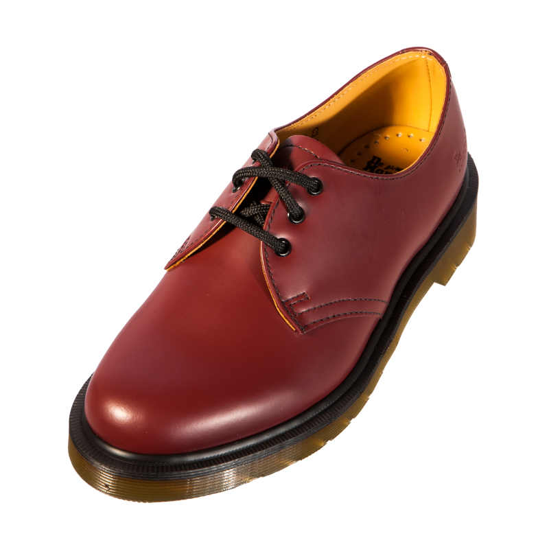 dr doc martens 1461 pw cherry red smooth leather classic. Black Bedroom Furniture Sets. Home Design Ideas