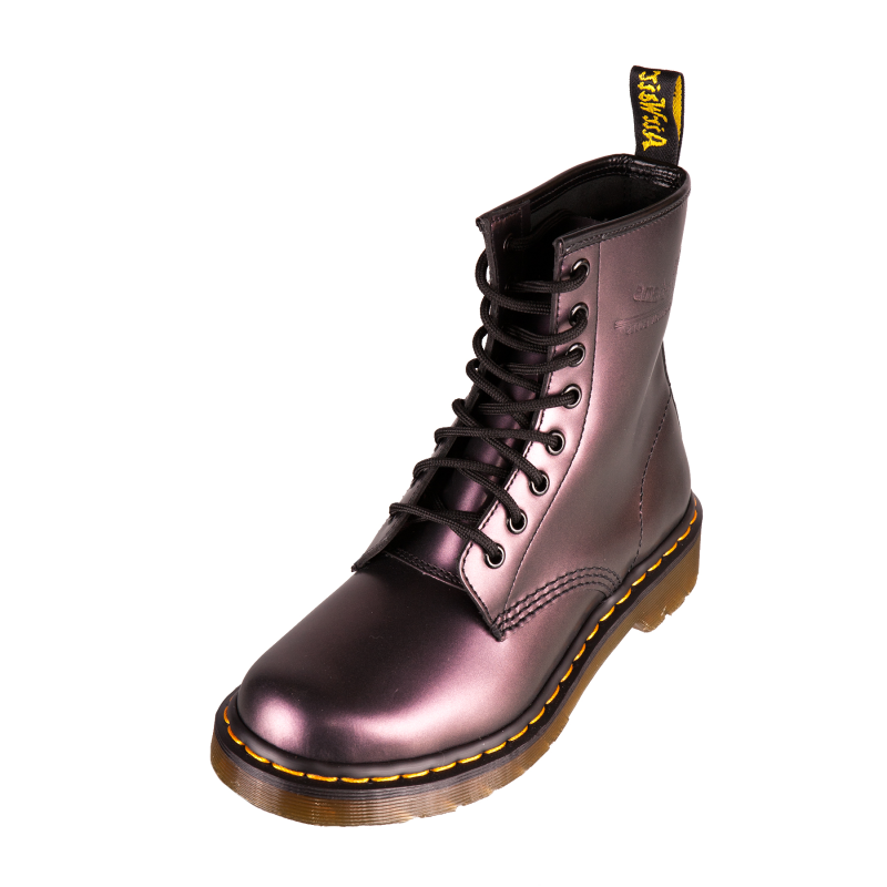 dr doc martens 1460 w bottes femme classique bottes violet shimmer 11821510 ebay. Black Bedroom Furniture Sets. Home Design Ideas