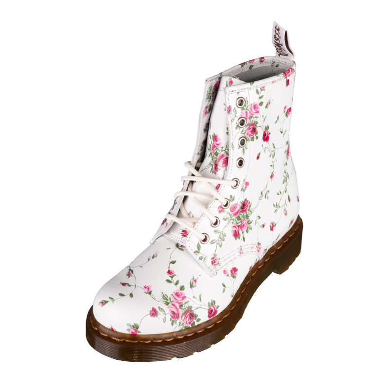 dr doc martens 1460 w womens classic boots white portland rose 11821111 ebay. Black Bedroom Furniture Sets. Home Design Ideas
