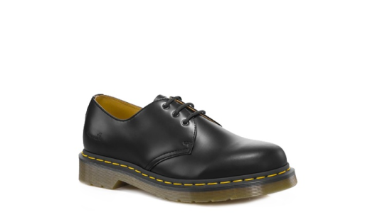 dr doc martens 1461 black leather classic shoe goodyear. Black Bedroom Furniture Sets. Home Design Ideas