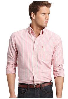 Mens slim fit shirt izod by phillips van heusen non iron for Van heusen iron free shirts