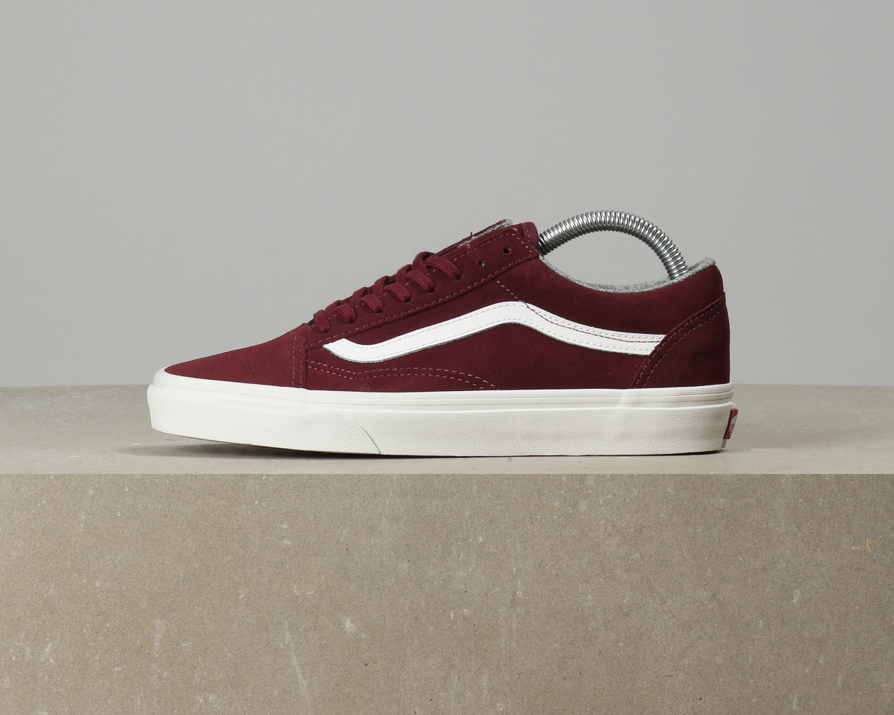 red mahogany old skool vans