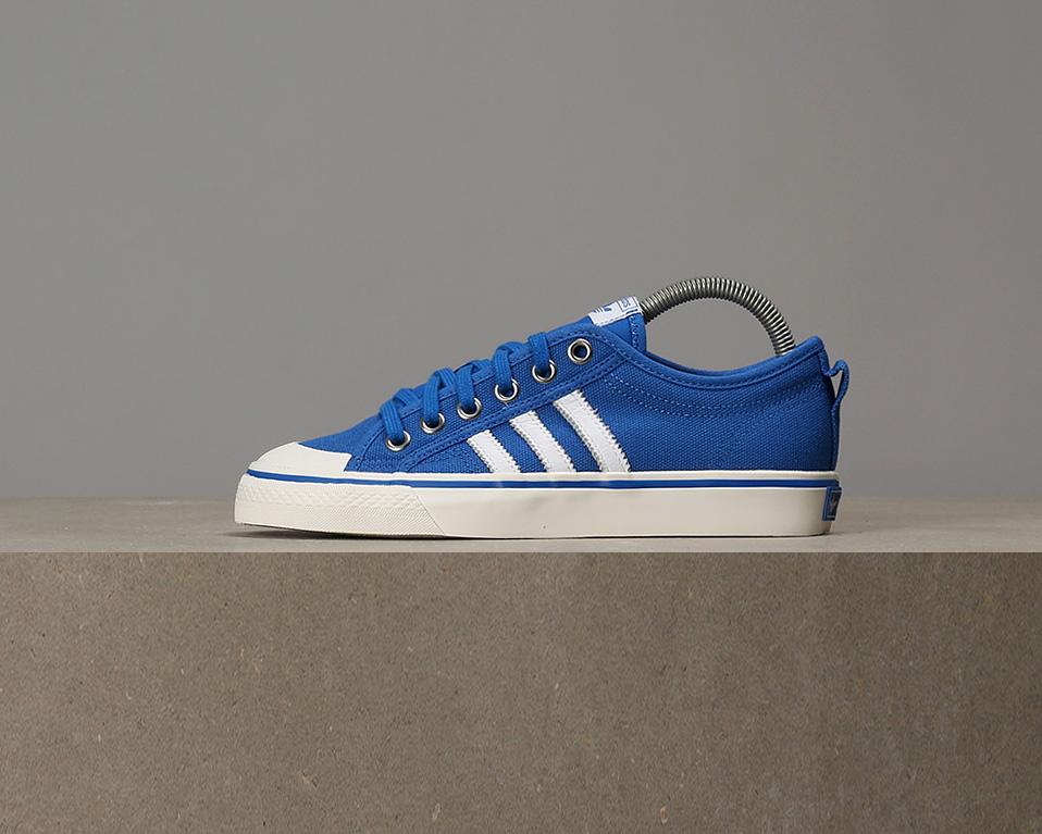 X - Adidas Donna Nizza Low - X Blue / Off White c36241