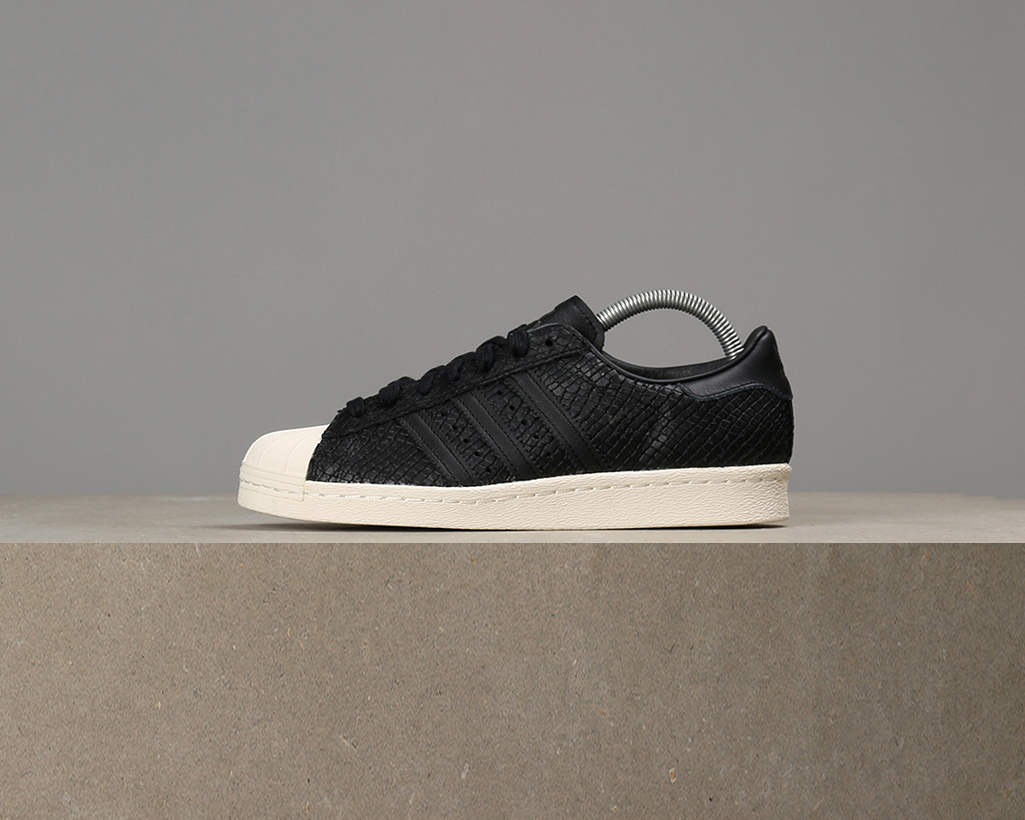 X Adidas femmes Superstar 80s Leather Snake Leather 80s - Core noir / Off blanc 099913