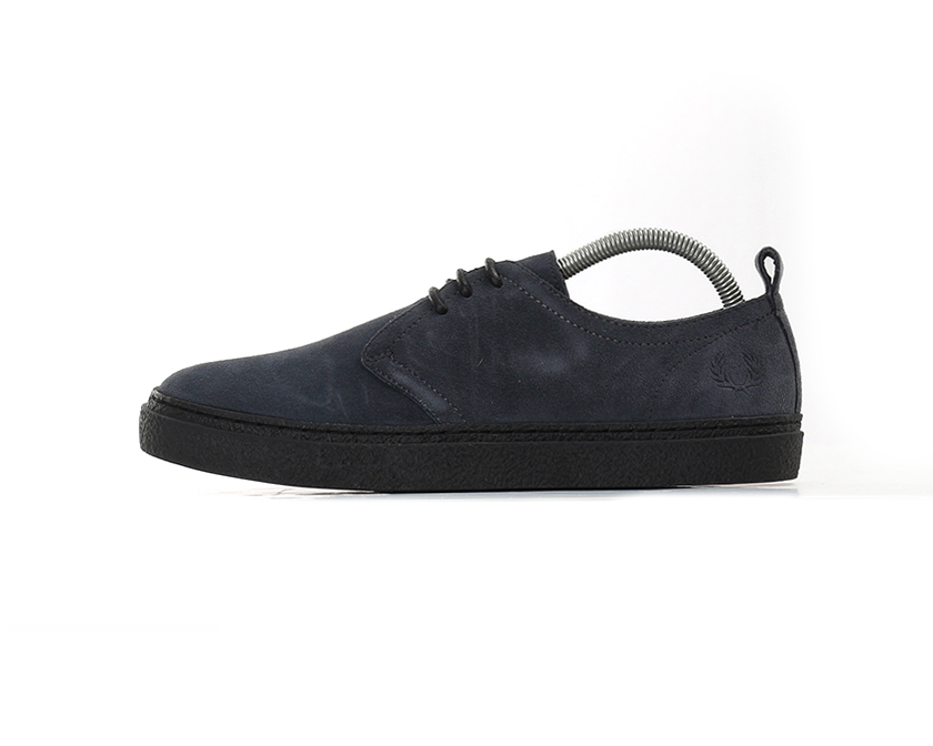 X Fred Perry Linden (Fred Suede Shoes - Charcoal (Fred Linden Perry Limited) 0630df