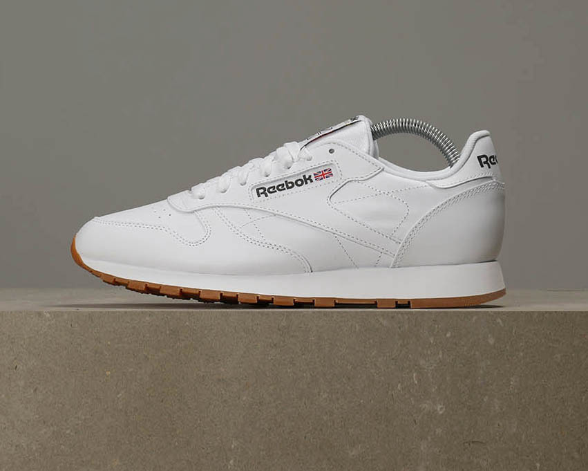 Reebok White Classic Leather - Intense White Reebok / Gum 4292ad