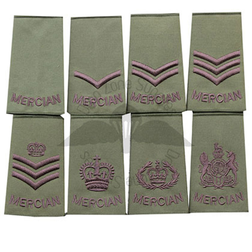 MERCIAN-REGIMENT-OLIVE-PCS-RANK-SLIDES-NEW-IN-SINGLES