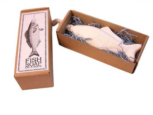 Large novelty retro themed fish soap on a rope quirky gift for Quirky retro gifts