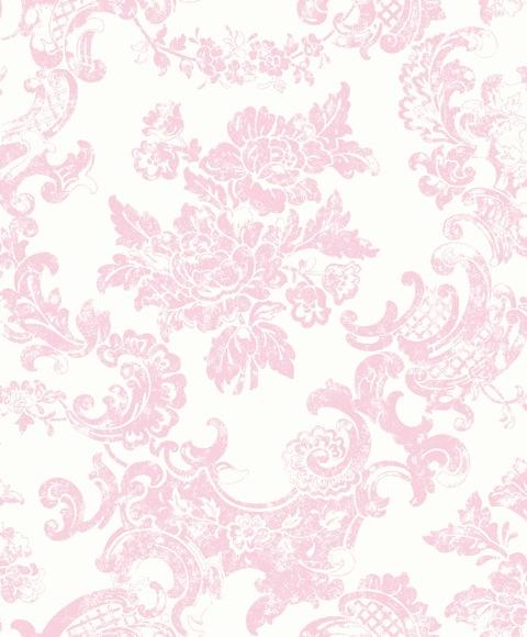 Tea Rose M0756 Vintage Lace Pink Damask Wallpaper eBay