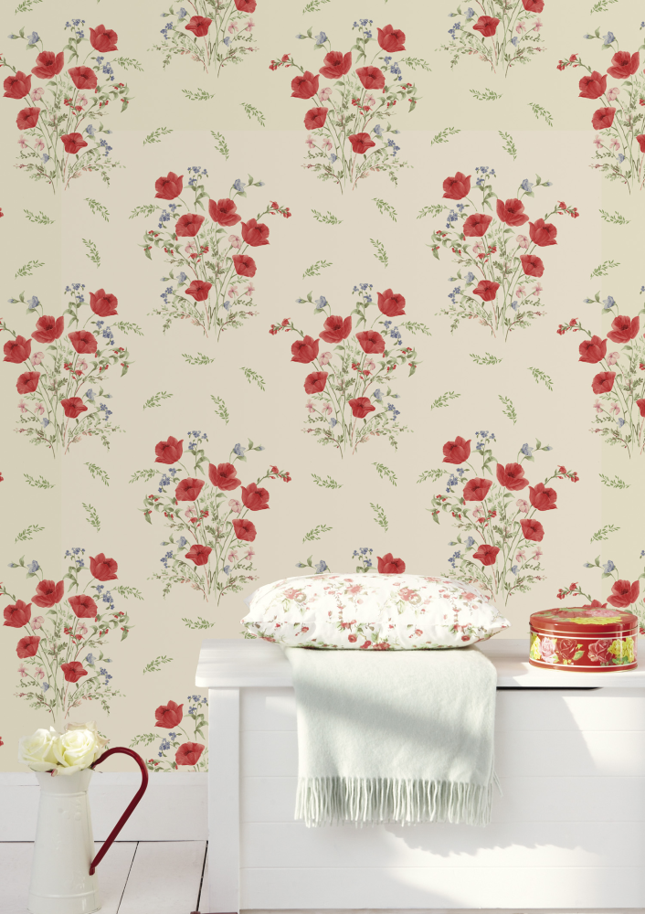 10318 - country Diary - cottage Garden - Poppy - Red ...