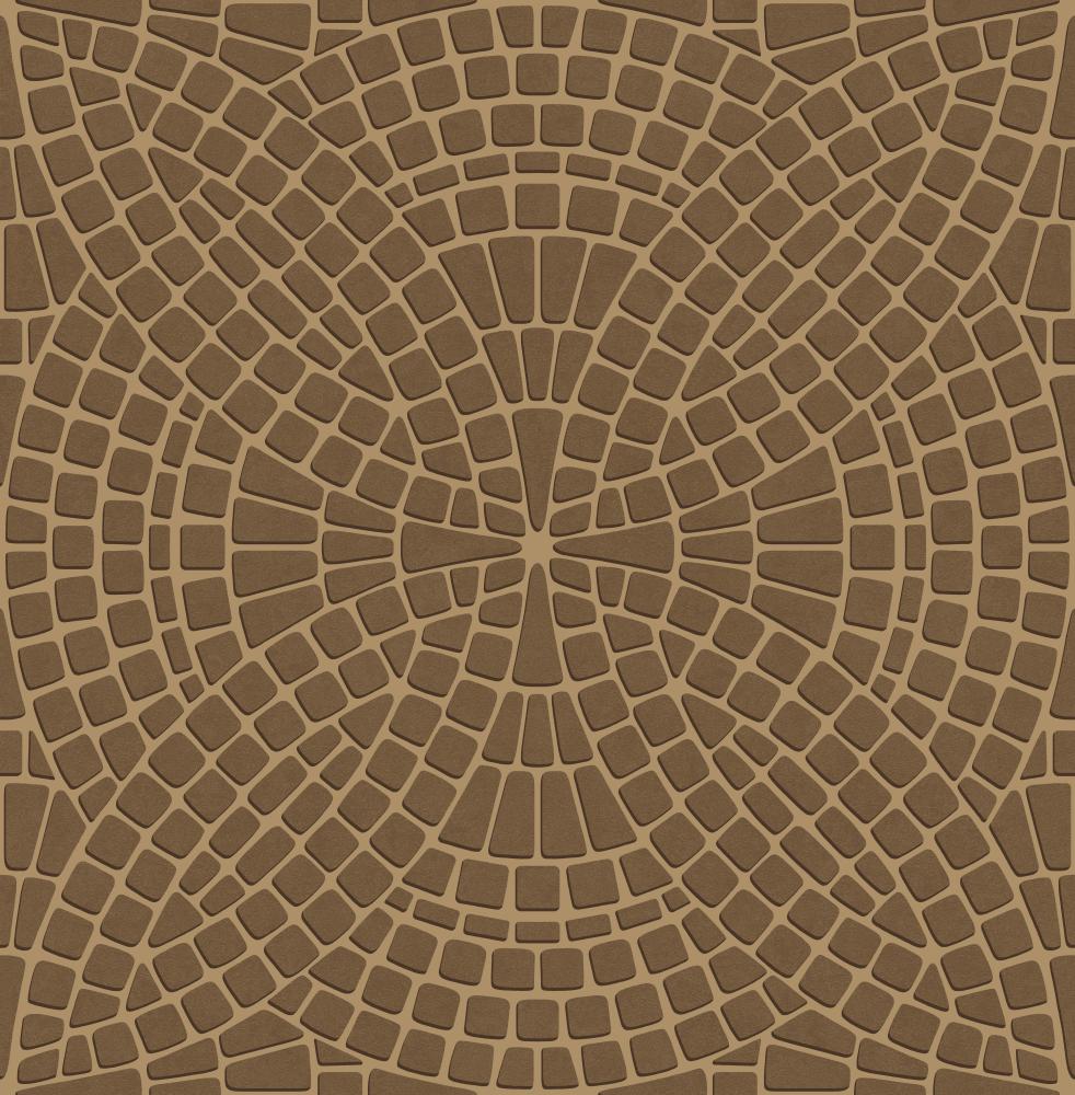 40132 Mosaic Tile Bronze Brown Gold Petal Wallpaper eBay