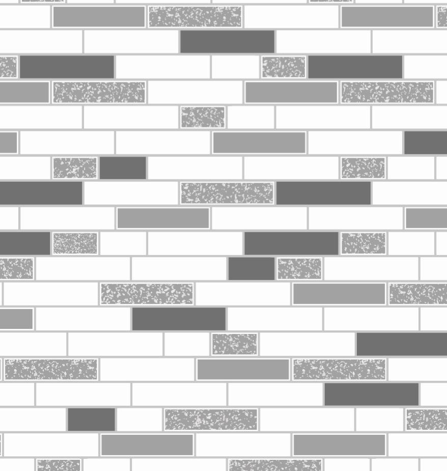 8919 13 Oblong Granite Black Silver Brick Tile Wallpaper EBay