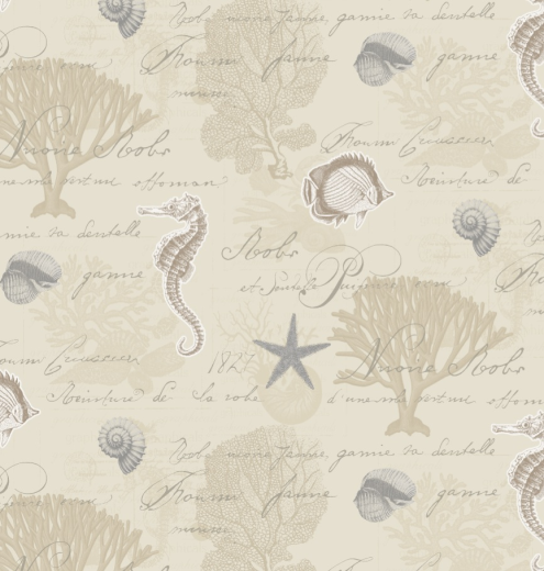 Love Wallpaper Rugeley : 89229 Seahorse Shell Starfish coral Fish Sand Wallpaper eBay