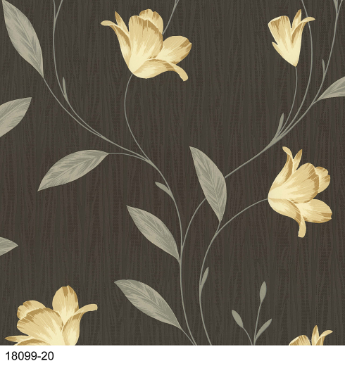 Love Wallpaper Rugeley : A stunning trailing leaf design featuring rich colours and ...