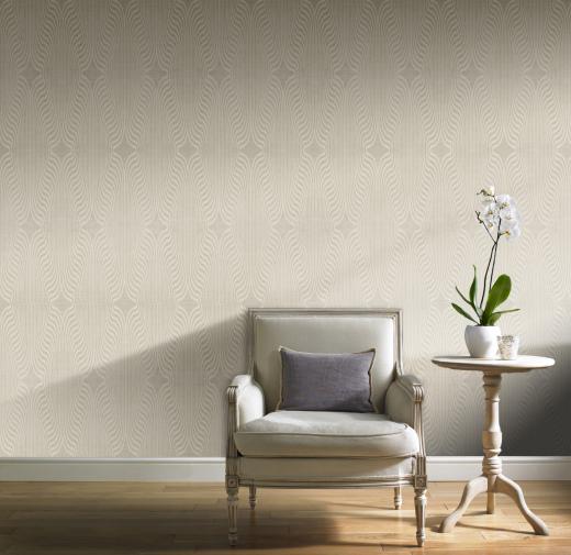 Art deco taupe diamond geometric glitter wallpaper ebay - Deco toiletten taupe ...