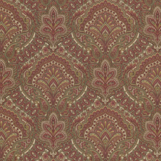 Love Wallpaper Rugeley : Paisley - Damask - Red / cream / Gold - Wallpaper eBay