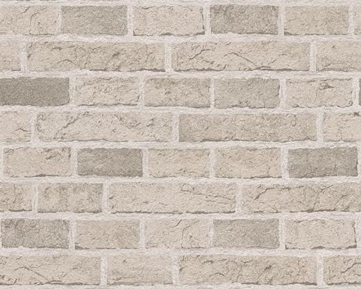 7798 130 Cream Grey Brick Wall Embossed Wallpaper