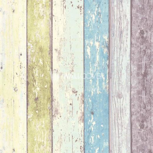 Wood Panel Lime Teal cream Grey Worn Paint Distressed ...