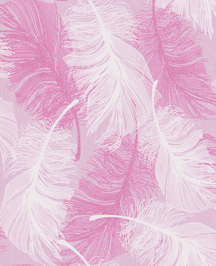 Love Wallpaper Rugeley : M0963 - Falling Feathers - Pink / Silver - Glitter ...