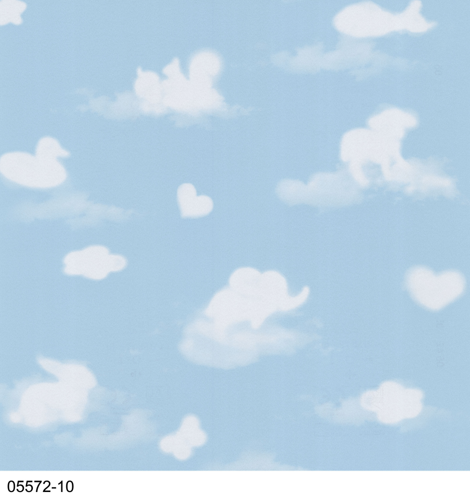 Love Wallpaper Rugeley : clouds - Blue - Animals - 05572-10 - Duck - Bunny ...