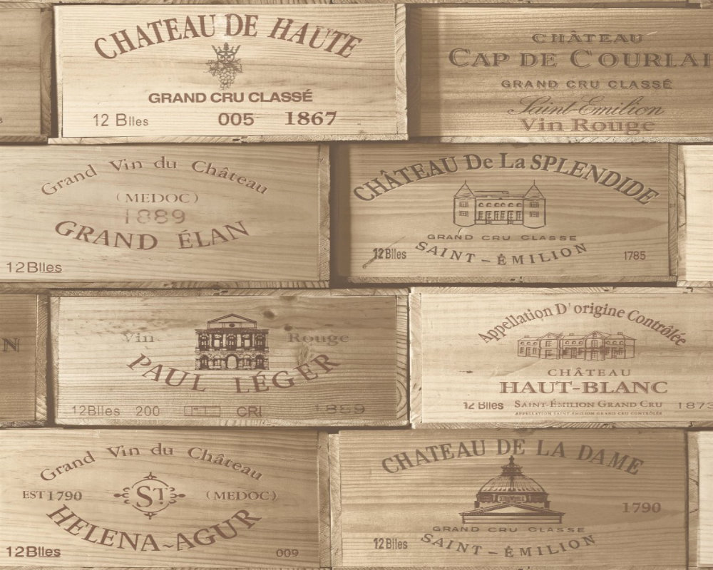 Vintage - Wine Labels - crates - Wooden - Wallpaper eBay