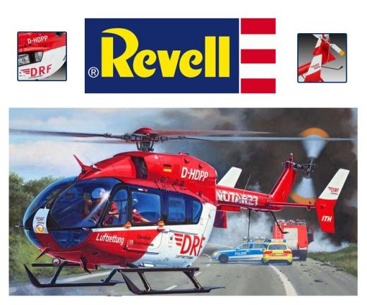 Elicottero 1 32 : Revell elicottero airbus ec drf luftrettung kit