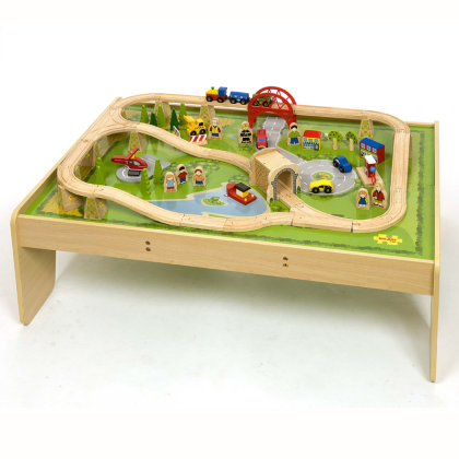 Bigjigs Wooden Railway Services Train Set Amp Table