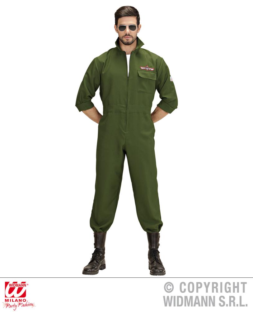 Top Fighter Jet Pilot Aviator Costume Gun Captain Biggles WW2 Airman Crew