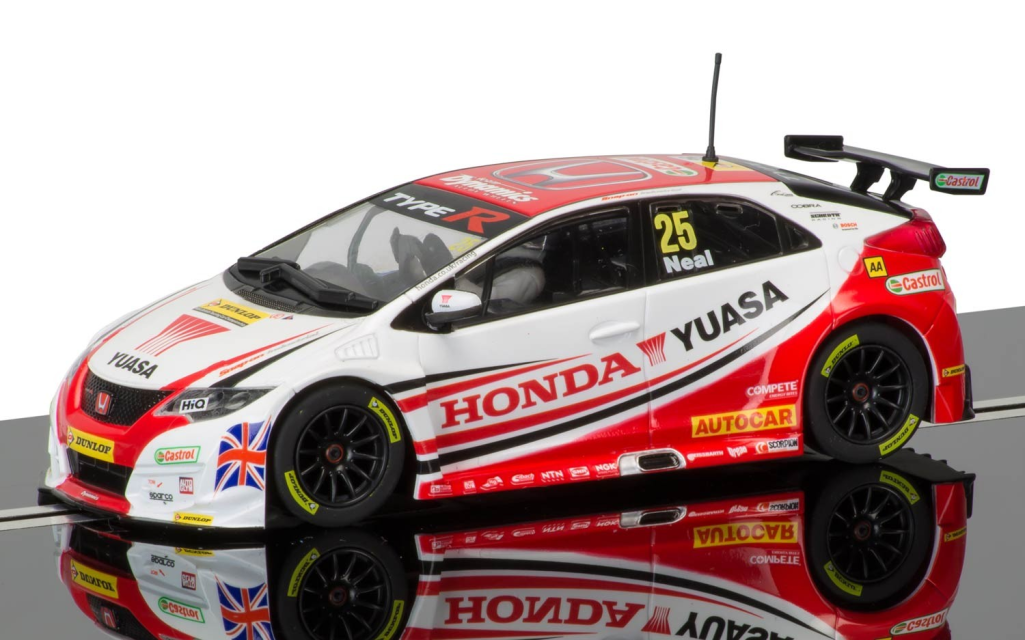 scalextric c3734 btcc 2015 honda civic type r matt neal. Black Bedroom Furniture Sets. Home Design Ideas