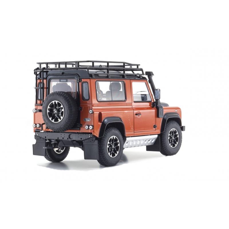 Land Rover Defender 90 Specs Photos: Land Rover Defender 90 Adventure Orange 1:18 Scale Kyosho
