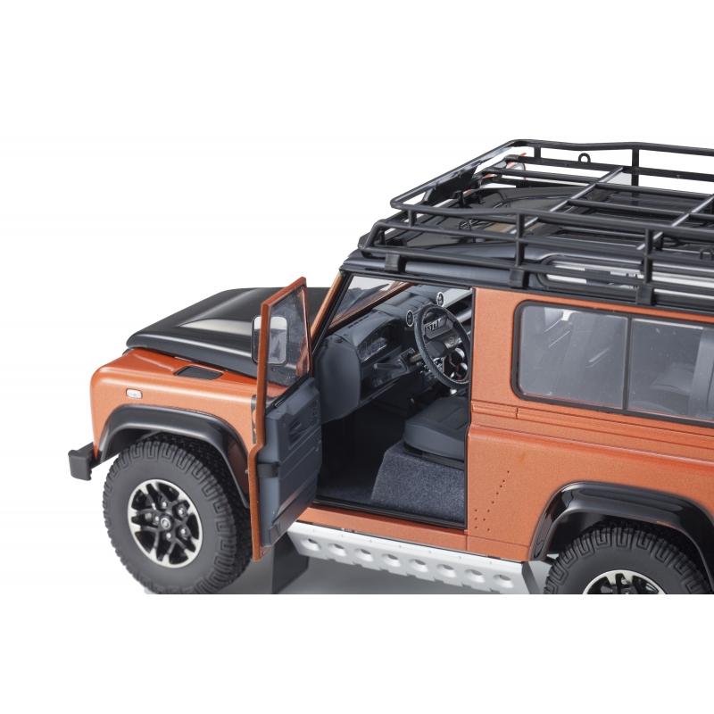 Land Rover Defender 90 Adventure Orange 1:18 Scale Kyosho