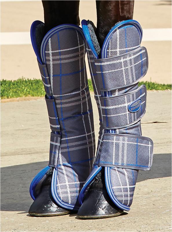 Weatherbeeta Wide Tab Long Horse Travel Stiefel Stiefel Stiefel - Grau Plaid a3b403