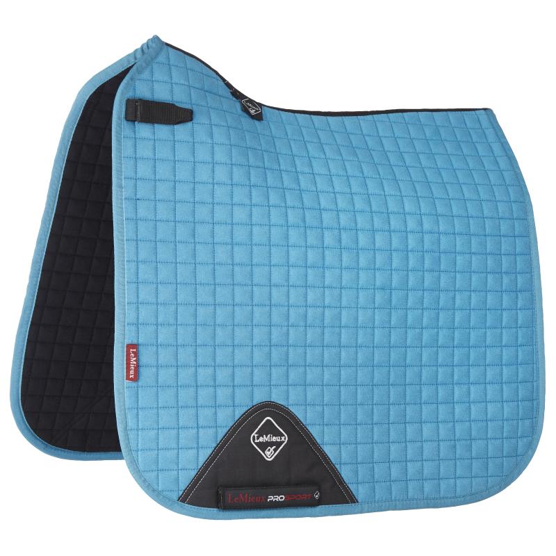 LeMieux ProSport Lustre Dressage Saddlepad Square Saddlepad Dressage - Teal e2f9f3